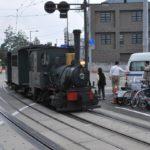 松山にきたら坊ちゃん列車・・なんというアクロバットな方向転換!