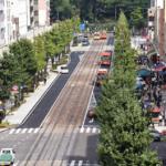 松山・花園町通り受賞 歩道広げ、にぎわい復活 定期イベント開催も /愛媛