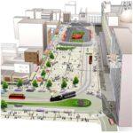 松山市駅前に交流広場 市が改変案 電車乗り換え容易に